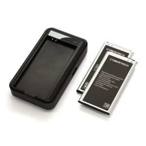 CyberTech Replacement Batteries for Samsung Galaxy S5 With Wall Charger
