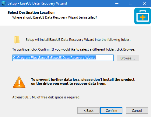 istall data recovery softwere