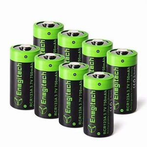 Arlo Enegitech CR123A Lithium Rechargeable Batteries by Enegitech