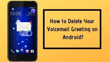 How to delete voice mail Greeting