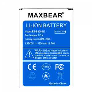 MAXBEAR Replacement Li-ion Battery for Note 3